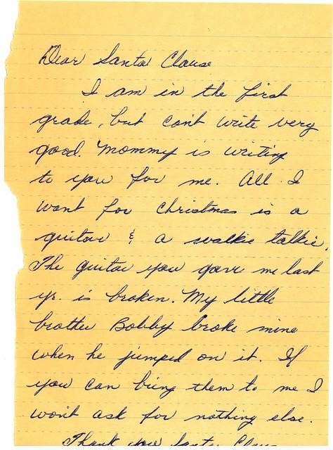 1968 Letter to Santa
