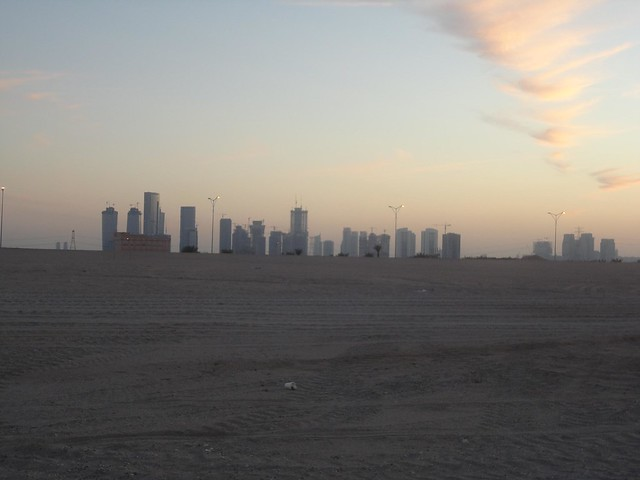 view of Abu Dhabi from Saadiyat Island