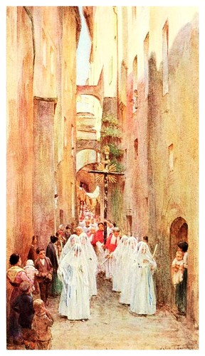 013-Una procesion en San Remo-An artist in the Riviera (1915)-Walter Tyndale