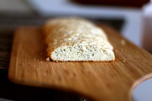 Almond Poppyseed Biscotti