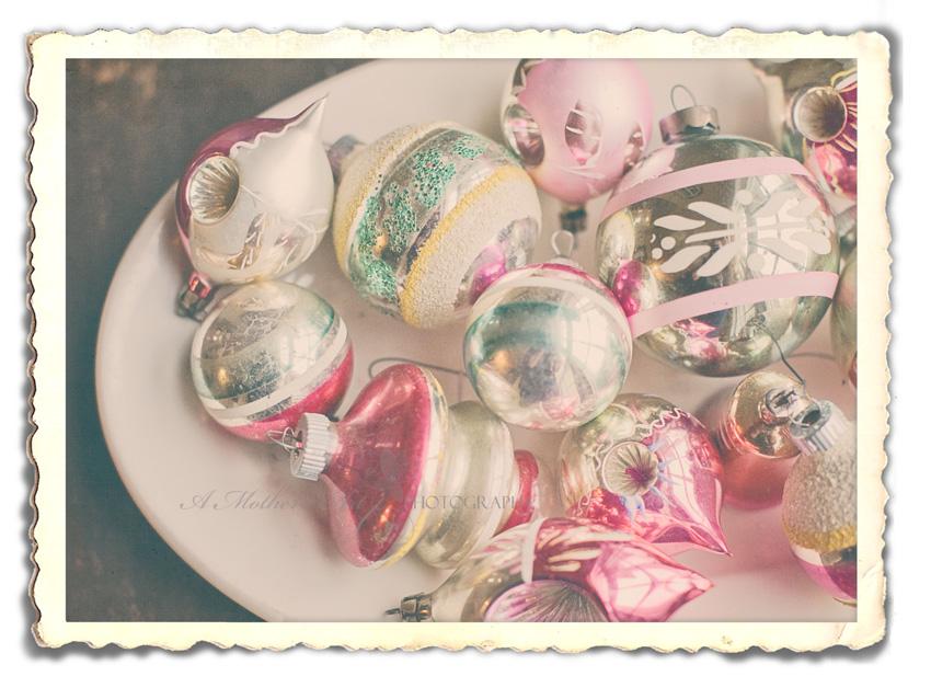 Vintage ornaments frame