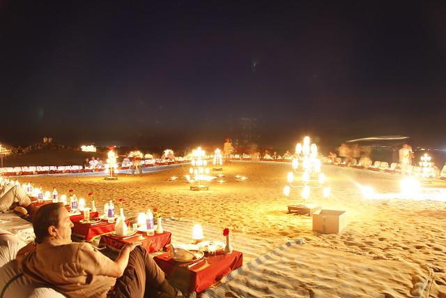 Cultural Performance amidst sand dunes in Bikaner