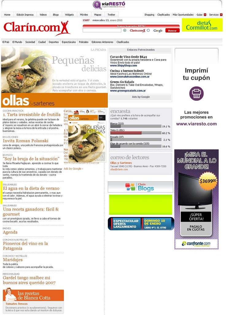 Site Diario Clar°n 13-01-10.Tapa
