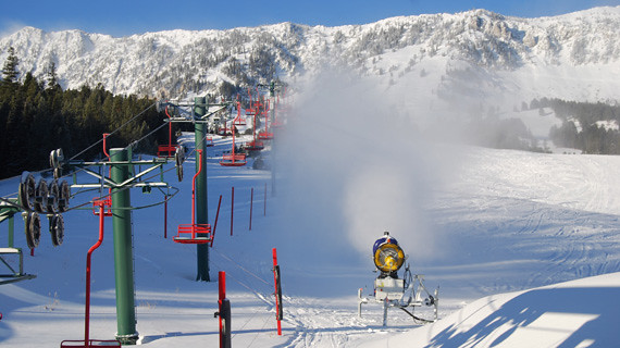 snowmaking at Bridger