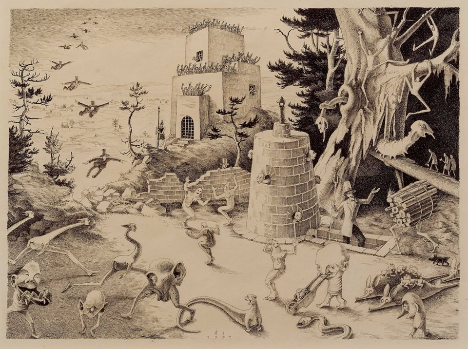 Franz Sedlacek - Fanciful Ink Drawing II, 1931