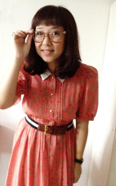 Coral Vintage Dress