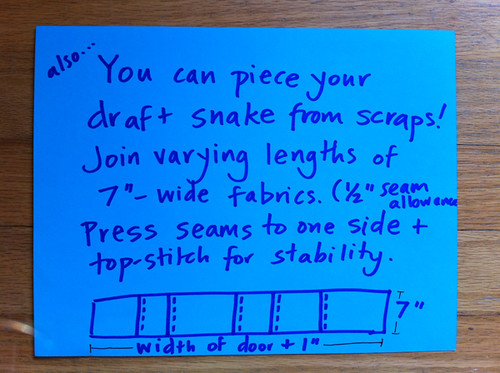 Draft Snakes - step 1 (patchwork version)