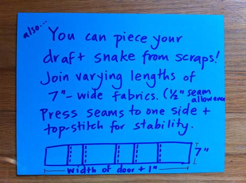 Draft Snakes - step 1 (patchwork version)