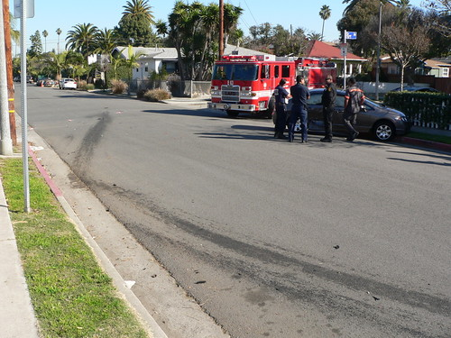 Car Crash 5th and Vernon Ave 12-9-11