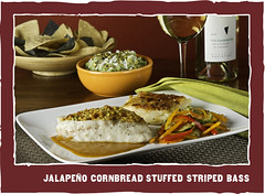Jalapeno Cornbread Stuffed Striped Bass - Z'Tejas | Bellevue.com