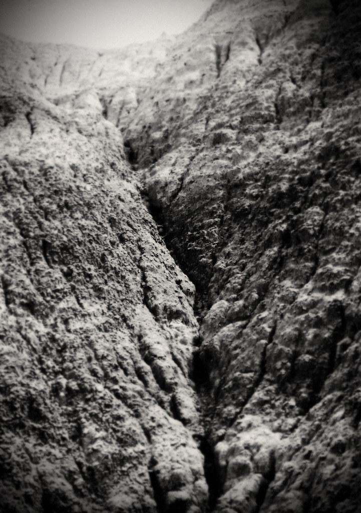 1990, Painted Desert Crevice, Arizona