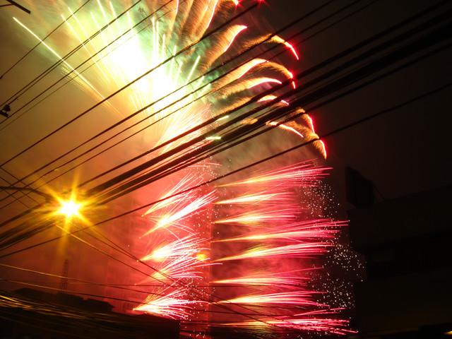 Fireworks at Festival de la Luz