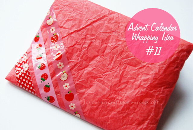 Advent Calendar Wrapping Ideas : Carina s craft advent calendar wrapping idea