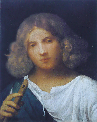 Giorgione - Shepherd boy with flute (1508) by petrus.agricola