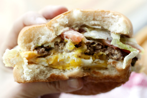 baby fat w/ egg @ fatburger