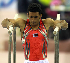 football player(0.0), weightlifting(0.0), gymnast(0.0), rings(0.0), championship(1.0), sports(1.0), player(1.0), artistic gymnastics(1.0), athlete(1.0),