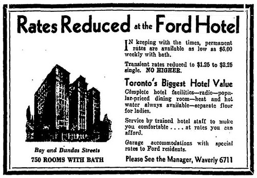 Vintage Ad #1,774: Rates Reduced at the Ford Hotel