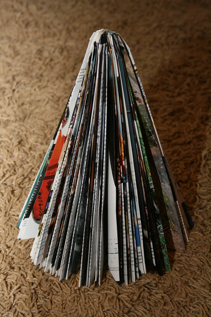 Magazine folded trees