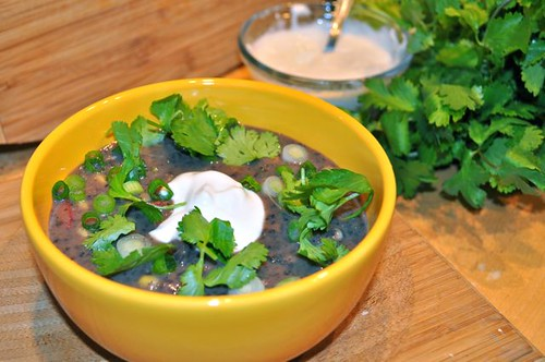black bean soup with pork & veggies feature