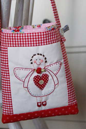 little stitchery angel bag
