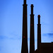 Three Chimneys at Fecsa's Power Plant, Barcelona