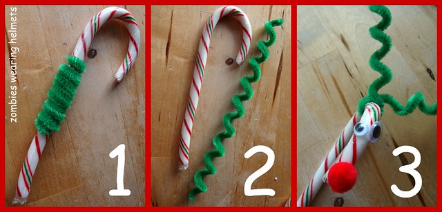 candy cane reindeer spiral antler how to