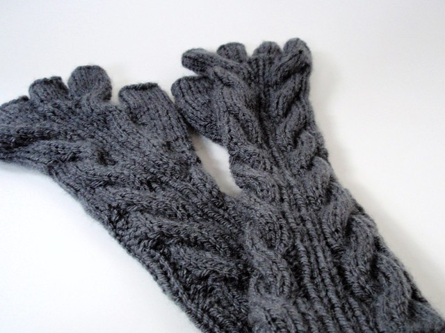 Bella Gloves Knitting Pattern : altered knit