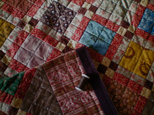Civil War Quilt, in progress