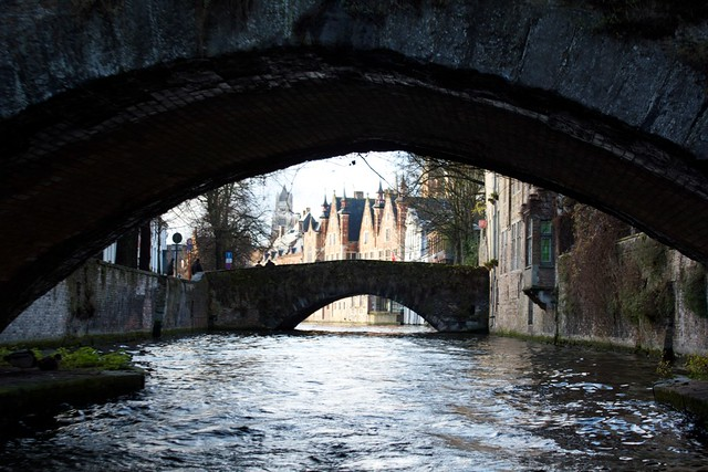 brugge canal. some bridges dated as far back to the 15th century