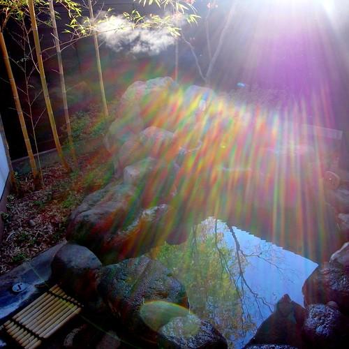 reflection japan morninglight spectrum onsen oita kyushu beppu ricohgx200