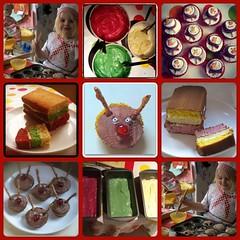 Christmas food collage