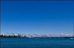 Auckland City and Harbor from Tamaki Drive