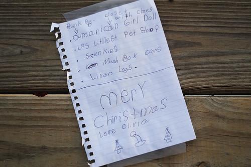 Note to Santa Olivia 2011