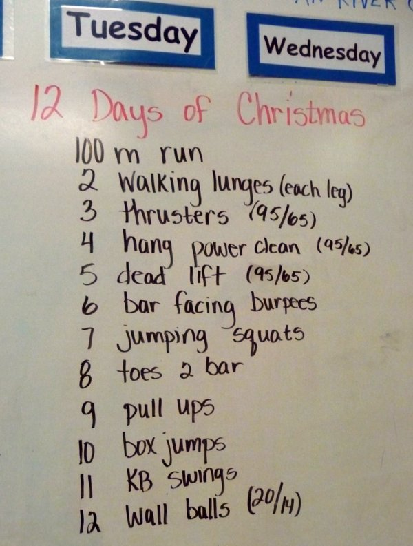 12 Days of Christmas WOD