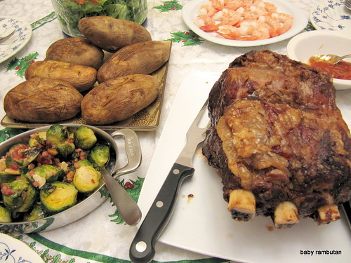 rib roast Christmas eve