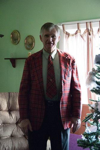 Dad in his Monroe Plaid jacket