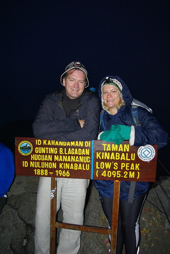 Awesome picture of Jutta & I at the Mt Kinabalu summit