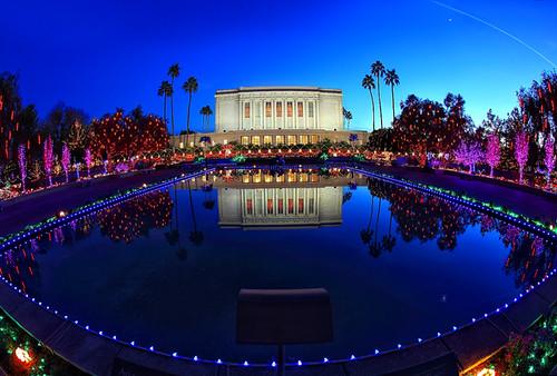 christmas blue arizona temple lights pretty az mormon mesa img6304 canoneos5dmarkii canonef15mmf28lens grantbrummett