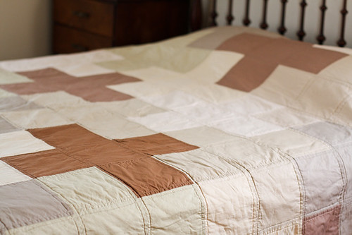 Giant Neutral Plus Quilt by jenib320
