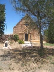 Dublin Methodist Church with cairn