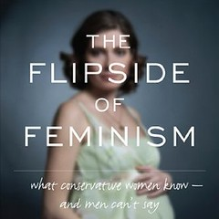 The cover of The Flipside of Feminism, featuring an out-of-focus photo of a pregnant white woman.