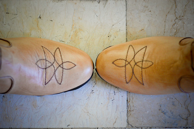 custom made leather nude booties