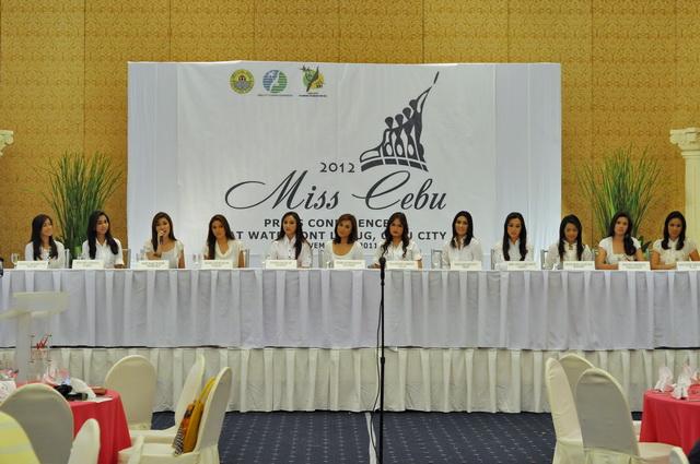 Miss Cebu 2012 Launch Sinulog
