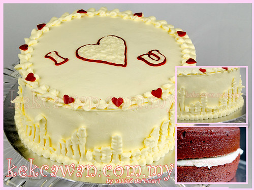 Red Velvet Cake + Cream Cheese Frosting