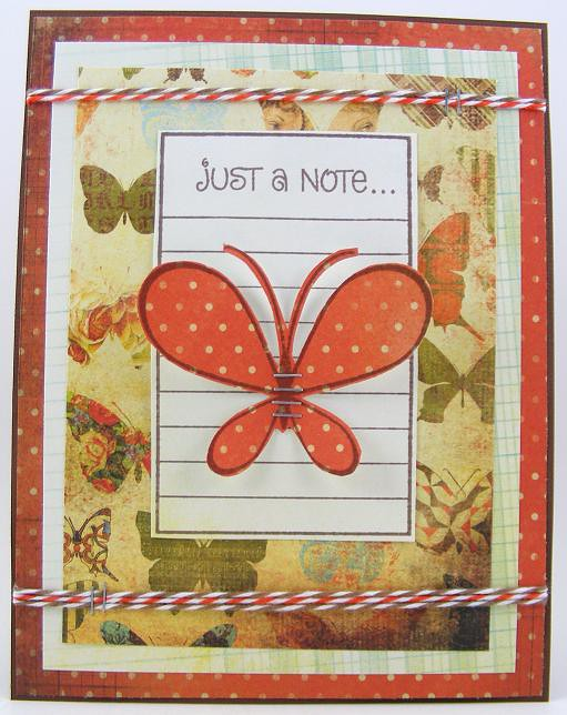 SOL January Butterfly Note Card