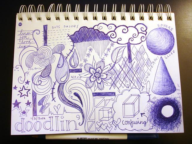ballpoint pen doodle