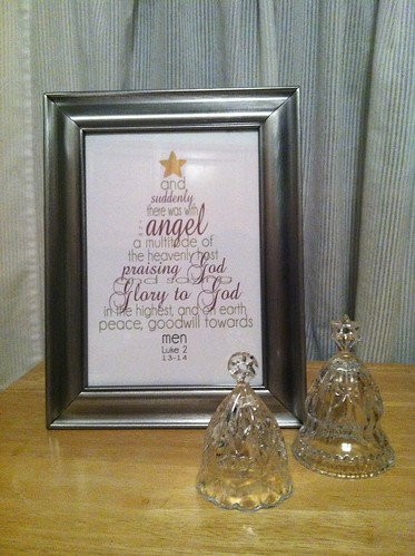 Christmas printable framed gift