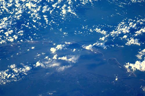 De waddeneilanden. Prachtig om te zien. by André Kuipers