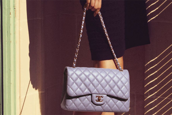 chanel flap clutch lavender 2100