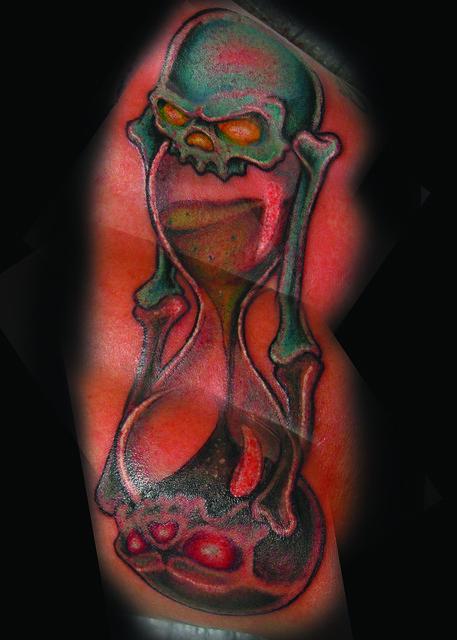 Hourglass flickr photo sharing for Skull hourglass tattoo